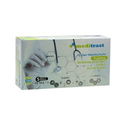 Latex gloves Meditrast powder free (Medium/100pcs)