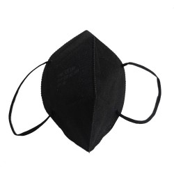 Fold-flat respirator FFP2 black 5ply