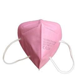 Fold-flat respirator FFP2 pink 5ply