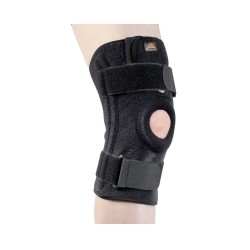 Neoprene knee brace with plastic stays