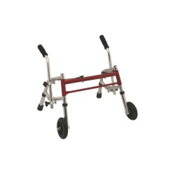 FOLDABLE WALKER – 2 FIXED CASTERS AND 2 TIPS – CHILD TYPE